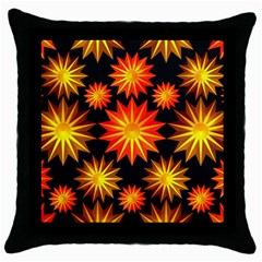 Stars Patterns Christmas Background Seamless Throw Pillow Case (black)