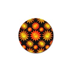 Stars Patterns Christmas Background Seamless Golf Ball Marker (4 pack)