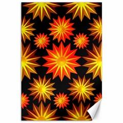 Stars Patterns Christmas Background Seamless Canvas 12  x 18