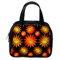 Stars Patterns Christmas Background Seamless Classic Handbags (One Side)