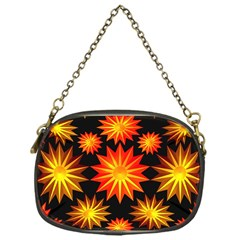 Stars Patterns Christmas Background Seamless Chain Purses (One Side)