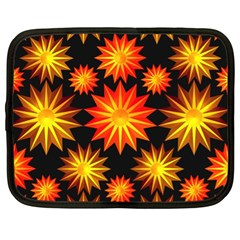 Stars Patterns Christmas Background Seamless Netbook Case (XL)