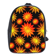 Stars Patterns Christmas Background Seamless School Bags(large)