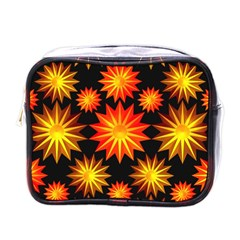 Stars Patterns Christmas Background Seamless Mini Toiletries Bags