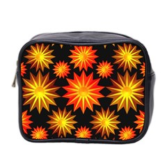 Stars Patterns Christmas Background Seamless Mini Toiletries Bag 2-Side