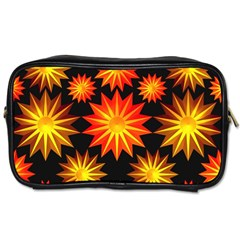 Stars Patterns Christmas Background Seamless Toiletries Bags 2-Side