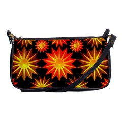 Stars Patterns Christmas Background Seamless Shoulder Clutch Bags