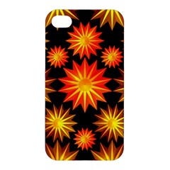 Stars Patterns Christmas Background Seamless Apple Iphone 4/4s Hardshell Case
