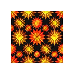 Stars Patterns Christmas Background Seamless Acrylic Tangram Puzzle (4  x 4 )