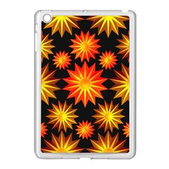 Stars Patterns Christmas Background Seamless Apple iPad Mini Case (White)