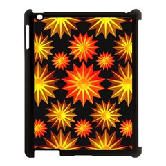 Stars Patterns Christmas Background Seamless Apple iPad 3/4 Case (Black)