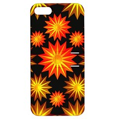 Stars Patterns Christmas Background Seamless Apple Iphone 5 Hardshell Case With Stand