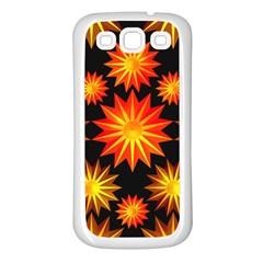 Stars Patterns Christmas Background Seamless Samsung Galaxy S3 Back Case (white)