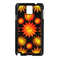 Stars Patterns Christmas Background Seamless Samsung Galaxy Note 3 N9005 Case (black)