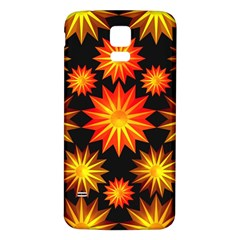 Stars Patterns Christmas Background Seamless Samsung Galaxy S5 Back Case (white)