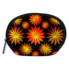 Stars Patterns Christmas Background Seamless Accessory Pouches (medium)