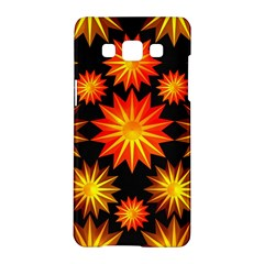 Stars Patterns Christmas Background Seamless Samsung Galaxy A5 Hardshell Case