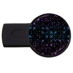 Stars Pattern USB Flash Drive Round (1 GB)