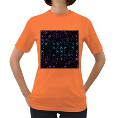 Stars Pattern Women s Dark T-Shirt