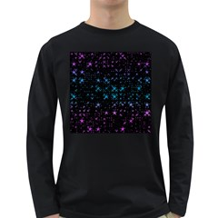 Stars Pattern Long Sleeve Dark T-Shirts