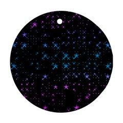 Stars Pattern Round Ornament (Two Sides)