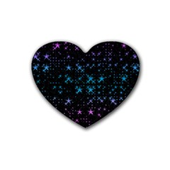 Stars Pattern Rubber Coaster (Heart)