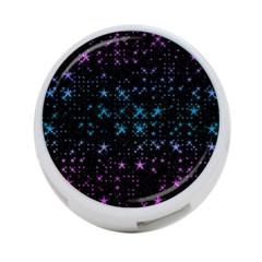Stars Pattern 4-Port USB Hub (One Side)