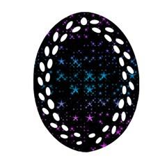 Stars Pattern Ornament (Oval Filigree)
