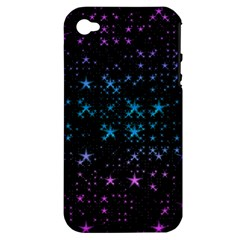 Stars Pattern Apple Iphone 4/4s Hardshell Case (pc+silicone)