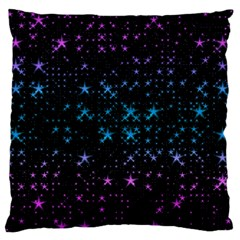 Stars Pattern Large Flano Cushion Case (two Sides)