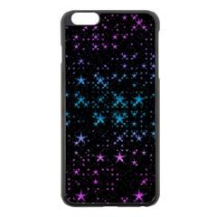 Stars Pattern Apple iPhone 6 Plus/6S Plus Black Enamel Case