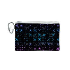 Stars Pattern Canvas Cosmetic Bag (S)