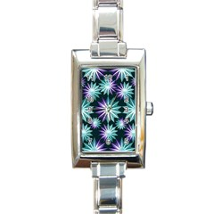 Stars Pattern Christmas Background Seamless Rectangle Italian Charm Watch