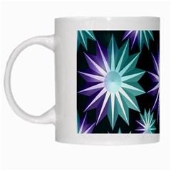 Stars Pattern Christmas Background Seamless White Mugs