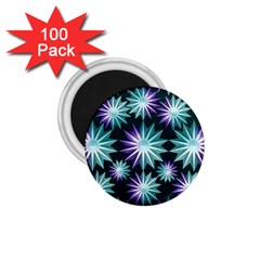 Stars Pattern Christmas Background Seamless 1.75  Magnets (100 pack)