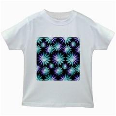 Stars Pattern Christmas Background Seamless Kids White T-Shirts