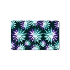 Stars Pattern Christmas Background Seamless Magnet (name Card)