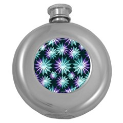 Stars Pattern Christmas Background Seamless Round Hip Flask (5 oz)