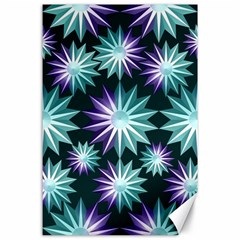 Stars Pattern Christmas Background Seamless Canvas 24  x 36