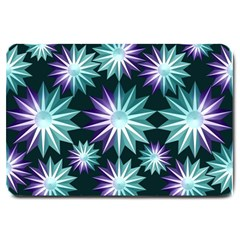 Stars Pattern Christmas Background Seamless Large Doormat