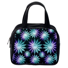 Stars Pattern Christmas Background Seamless Classic Handbags (one Side)