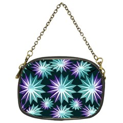 Stars Pattern Christmas Background Seamless Chain Purses (One Side)