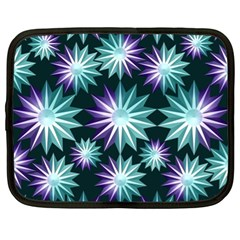 Stars Pattern Christmas Background Seamless Netbook Case (XL)