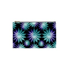 Stars Pattern Christmas Background Seamless Cosmetic Bag (small)