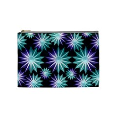 Stars Pattern Christmas Background Seamless Cosmetic Bag (Medium)