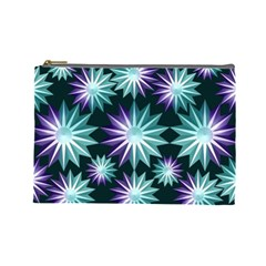 Stars Pattern Christmas Background Seamless Cosmetic Bag (Large)