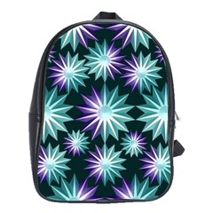 Stars Pattern Christmas Background Seamless School Bags(Large)