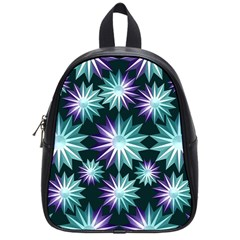 Stars Pattern Christmas Background Seamless School Bags (Small)