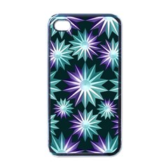 Stars Pattern Christmas Background Seamless Apple iPhone 4 Case (Black)