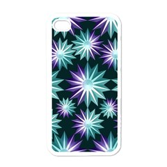 Stars Pattern Christmas Background Seamless Apple Iphone 4 Case (white)